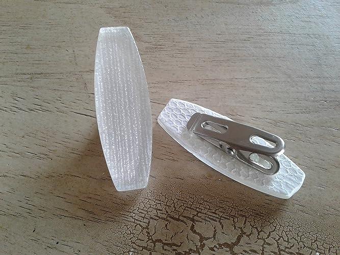 8 OblongTEXTURED Clip On Shower Curtain WeightsTablecloth WeightsStainless Steel