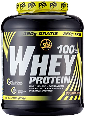 All Stars 100% Whey Protein, Cookies-Cream, 1er Pack (1 x 2350 g ... 545384c6fe