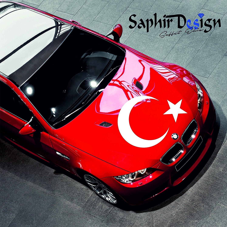 Saphir Design AyYildiz fü r Motorhaube/XXL AyYildiz/Tü rkiye / 80x60cm / A150 Farbe Weiss Oracal