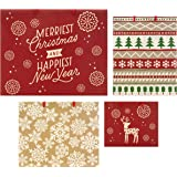Hallmark Christmas Mixed Traditional Gift Bag Pack, Pack of 4