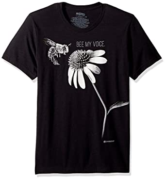 265b3ddf The Mountain Adult Bee My Voice Protect Tri-Blend T Shirt Black:  Amazon.co.uk: Clothing