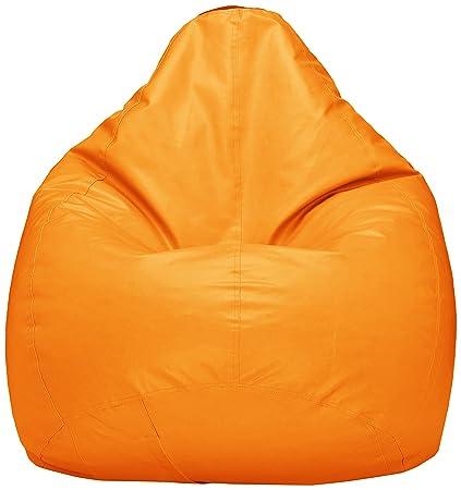 Amazon Brand - Solimo XXXL Bean Bag Cover (Orange)