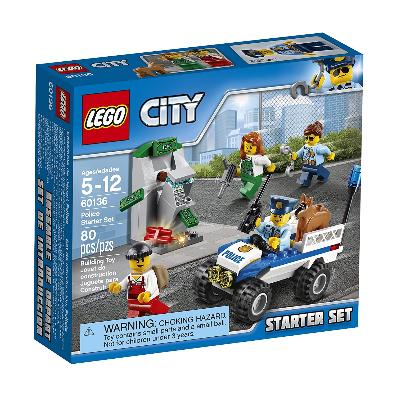 amazoncom lego city police police starter set 60136 building kit toys games - Lgo City Police