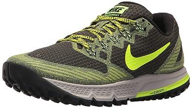 Nike Men's Air Zoom Wildhorse 3 Sequoia/Volt/Bright Cactus Running Shoe 8  Men