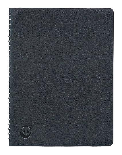 Cuaderno A5 de SmartPanda – Negro, Tapa Blanda, con Espiral Metálica – Pautado, Ejecutivo, 160 páginas, 100 gsm