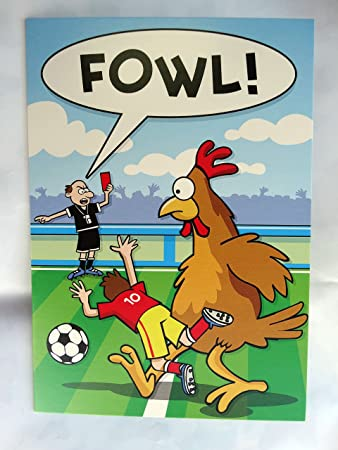 Funny Humour Anniversaire Greeting Card For Fan de Football