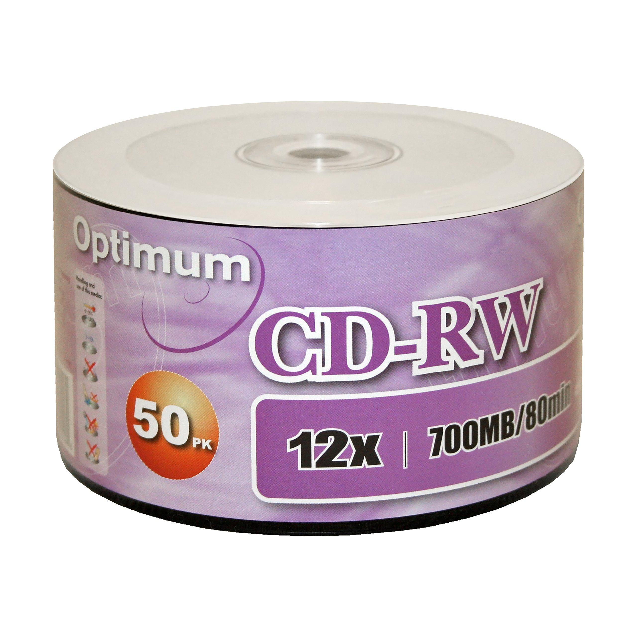 Optimum CD-RW 12x 700MB / 80min Logo Top 50pk