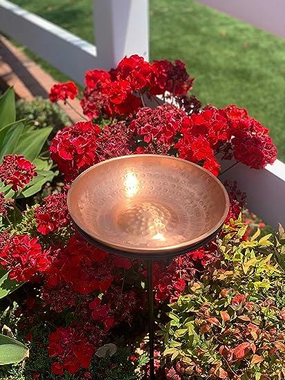 Monarch Pure Copper Bird Bath//Feeder with 34 inch Iron Stand