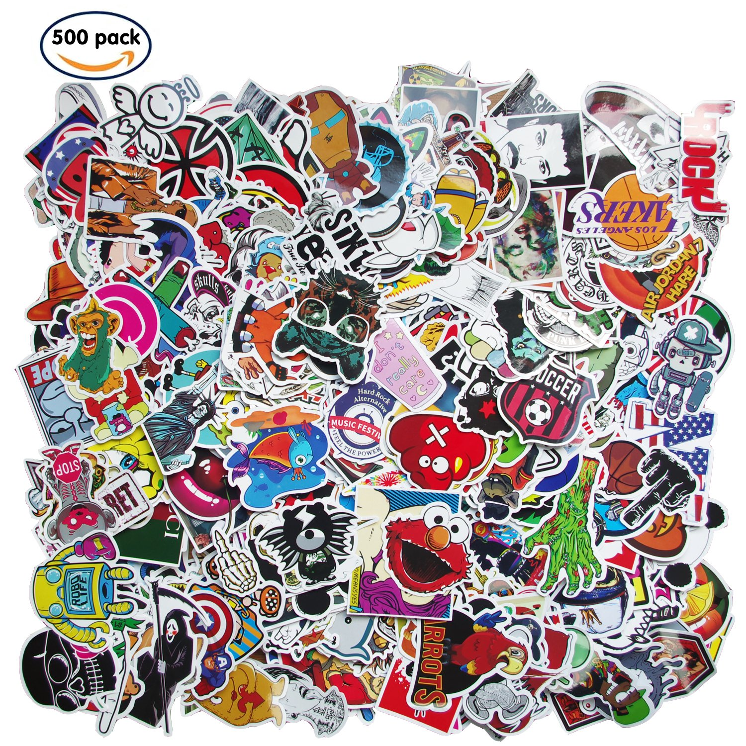 Future Stickers 500 pcs, Laptop Stickers Car Motorcycle Bicycle Luggage Decal Graffiti Patches Skateboard Stickers for Laptop - No-Duplicate Sticker Pack (500pcs)