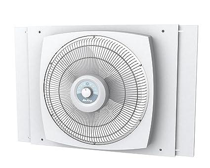 amazon com air king 9155 storm guard window fan 16 inch home rh amazon com Window Exhaust Fan for Smokers Basement Window Fan