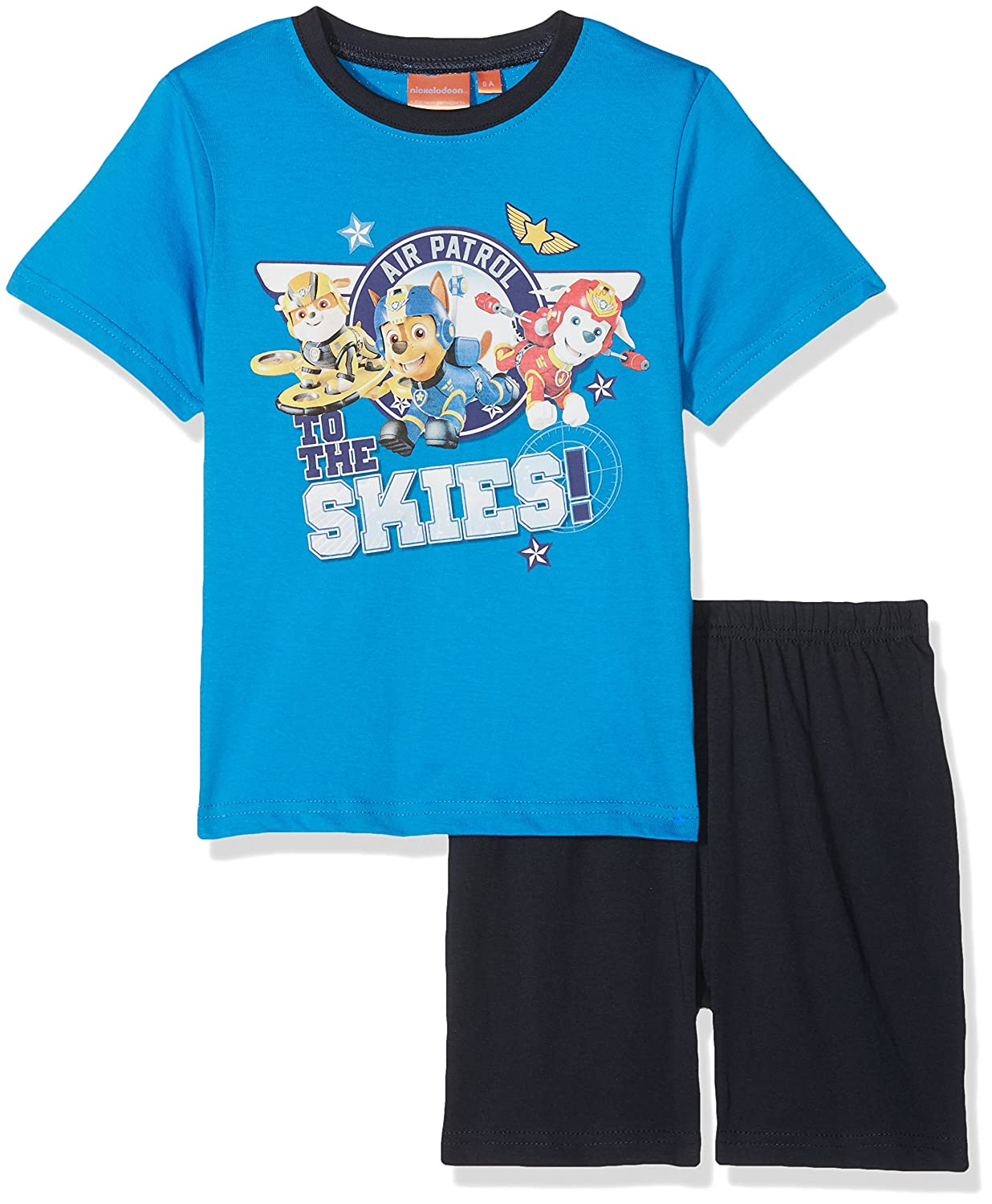 Nickelod/éon Paw Patrol Printed Pajama Set T Shirt with Short Sleeves and Short