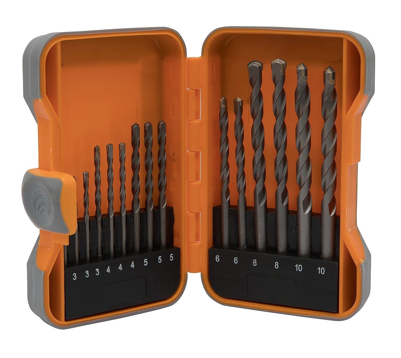 Steinbohrer Set –  15 Stü ck Kit in Aufbewahrungsbox aus Kunststoff Allkit