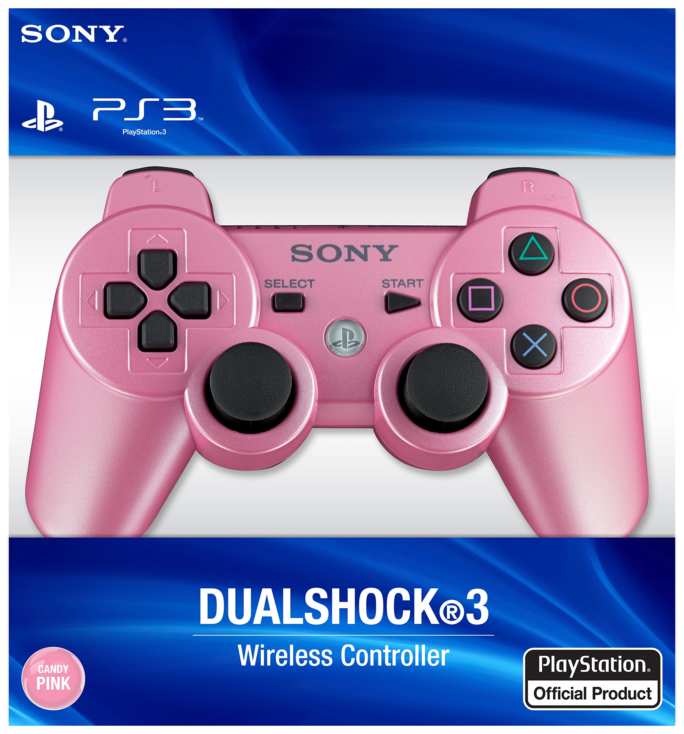 PlayStation 3 Dualshock 3 Wireless Controller (Candy Pink) by Sony