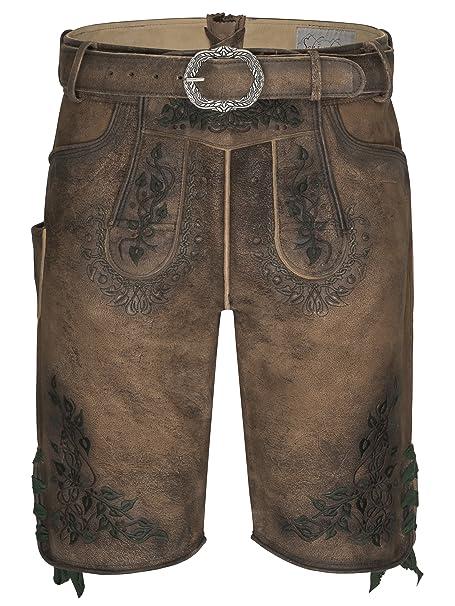 Oktoberfest Lederhosen Premium Leather Bavarian Shorts Traditional German wear