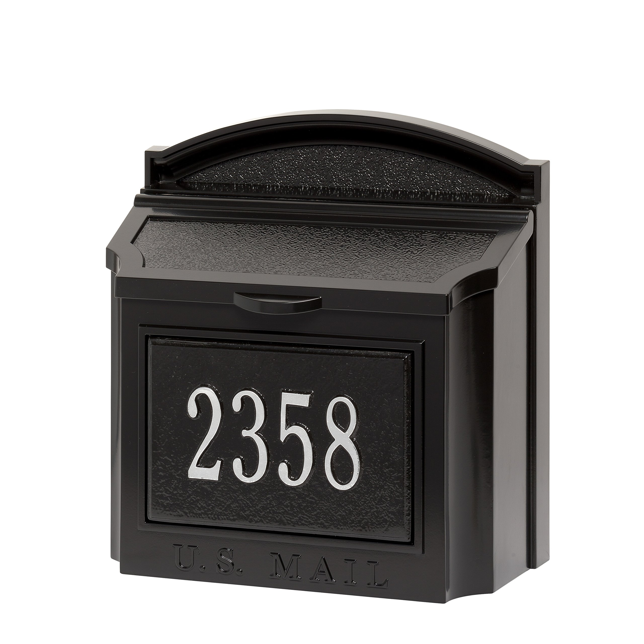 Customized Cast Aluminum Wall Mailbox AND Custom Address Numbers Plaque 15''H x 14.5''W x 8''D