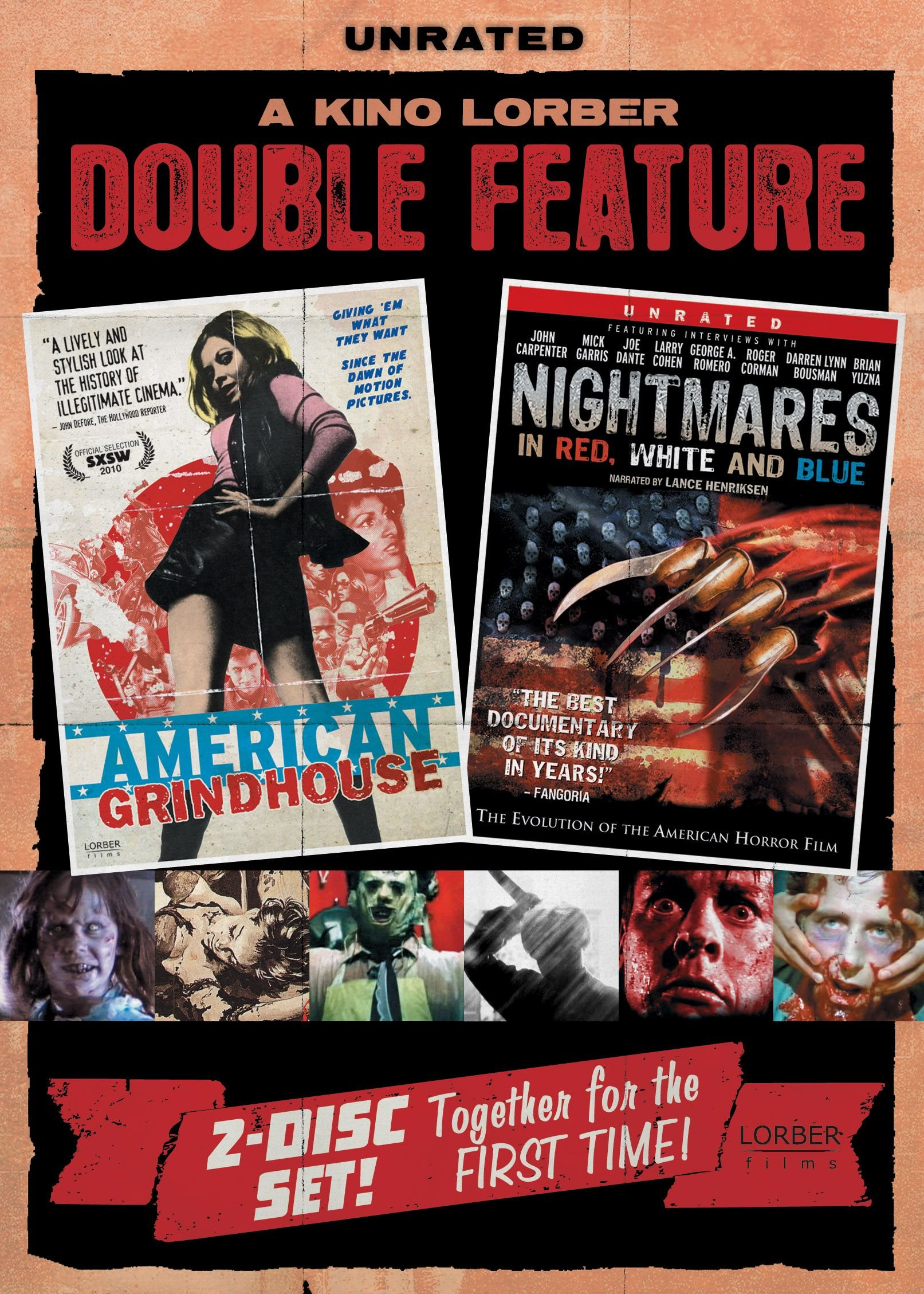 DVD : Fred Williamson - American Grindhouse /  Nightmares In Red, White And Blue (DVD)