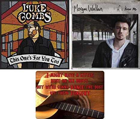 Luke Combs Morgan Wallen Luke Combs And Morgan Wallen 2 Cd Collection With Bonus Art Card This One S For You Too If I Know Me Amazon Com Music