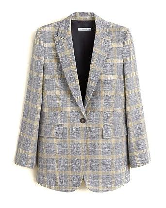 Precio de fábrica 2019 de calidad superior venta directa de fábrica Mango Women Check structured blazer 41030848 at Amazon ...