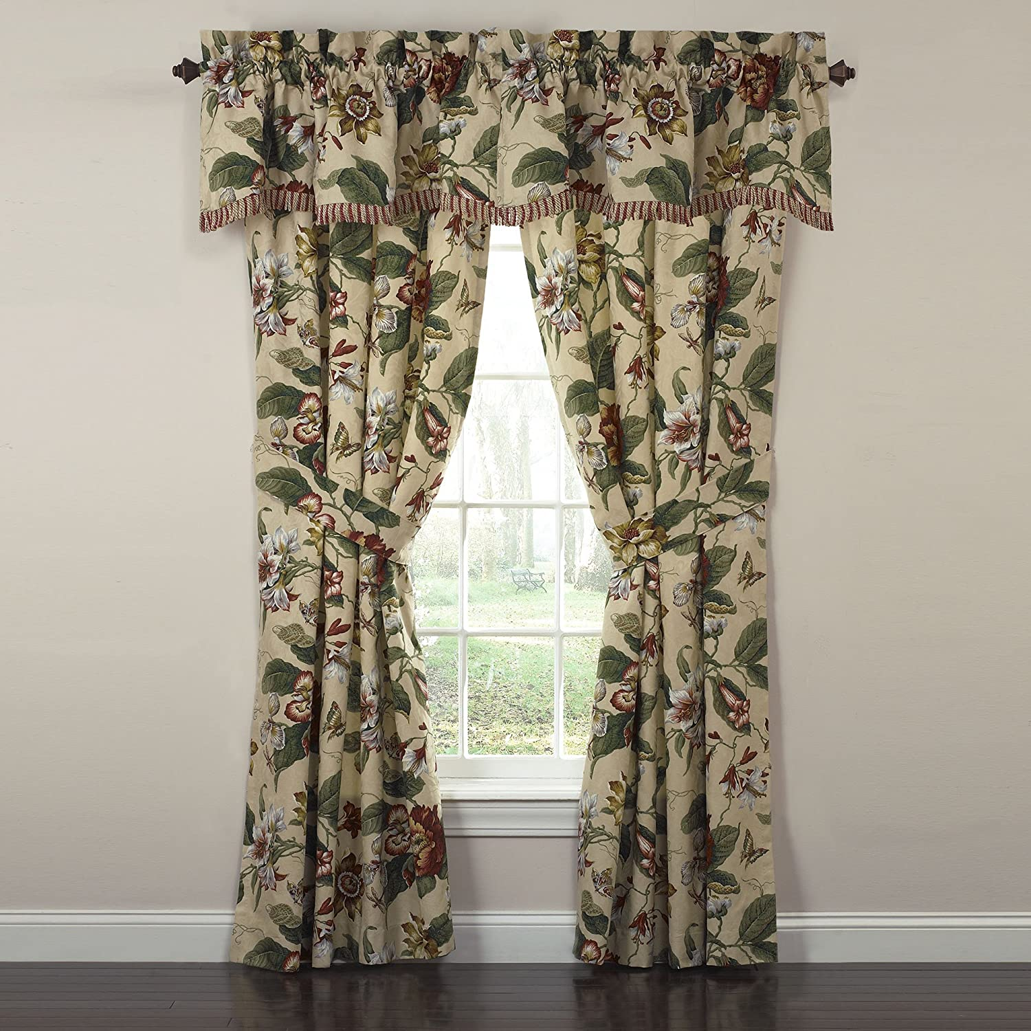 drapes window com springs lined valance waverly with cm wide dp inch long laurel x home amazon kitchen tgelncl