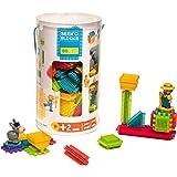 Seek'o Blocks - Jeu de Construction 1er âge - Seek'o Blocks Multicolore - Tube 80 Pièces avec personnages Ferme - BA3002