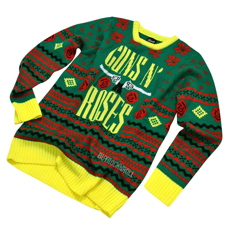 Guns N Roses Collectible: 2016 Bravado GNR Big Guns Ugly Christmas Sweater Medium