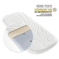 Alvi materasso per carrozzina e materassino navicella TENCEL® & Dry - 75 x 33 cm | protezione umidità | canali di aerazione verticali | imbottitura air 3D / ipoallergenico / senza sostanze nocive