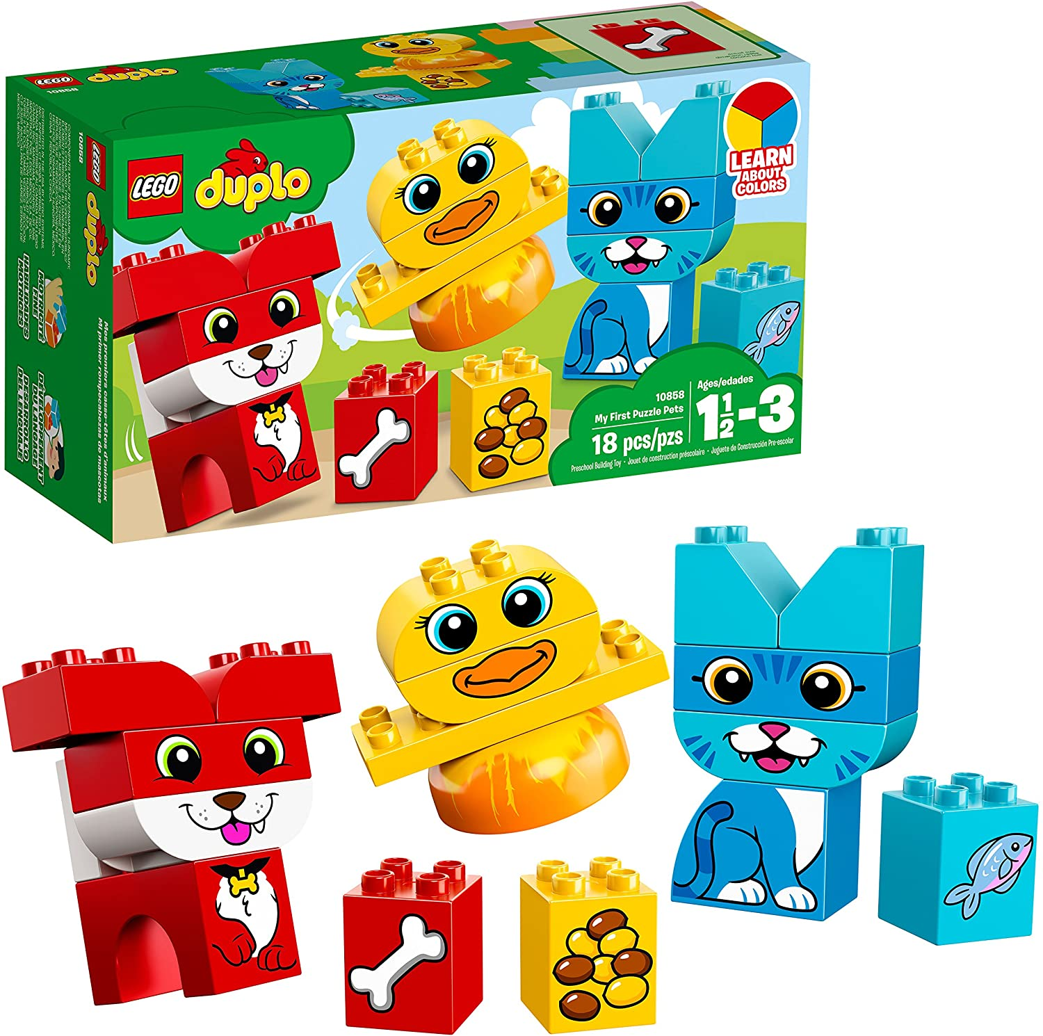 LEGO DUPLO My First Puzzle Pets 10858 Building Blocks (18 Pieces)