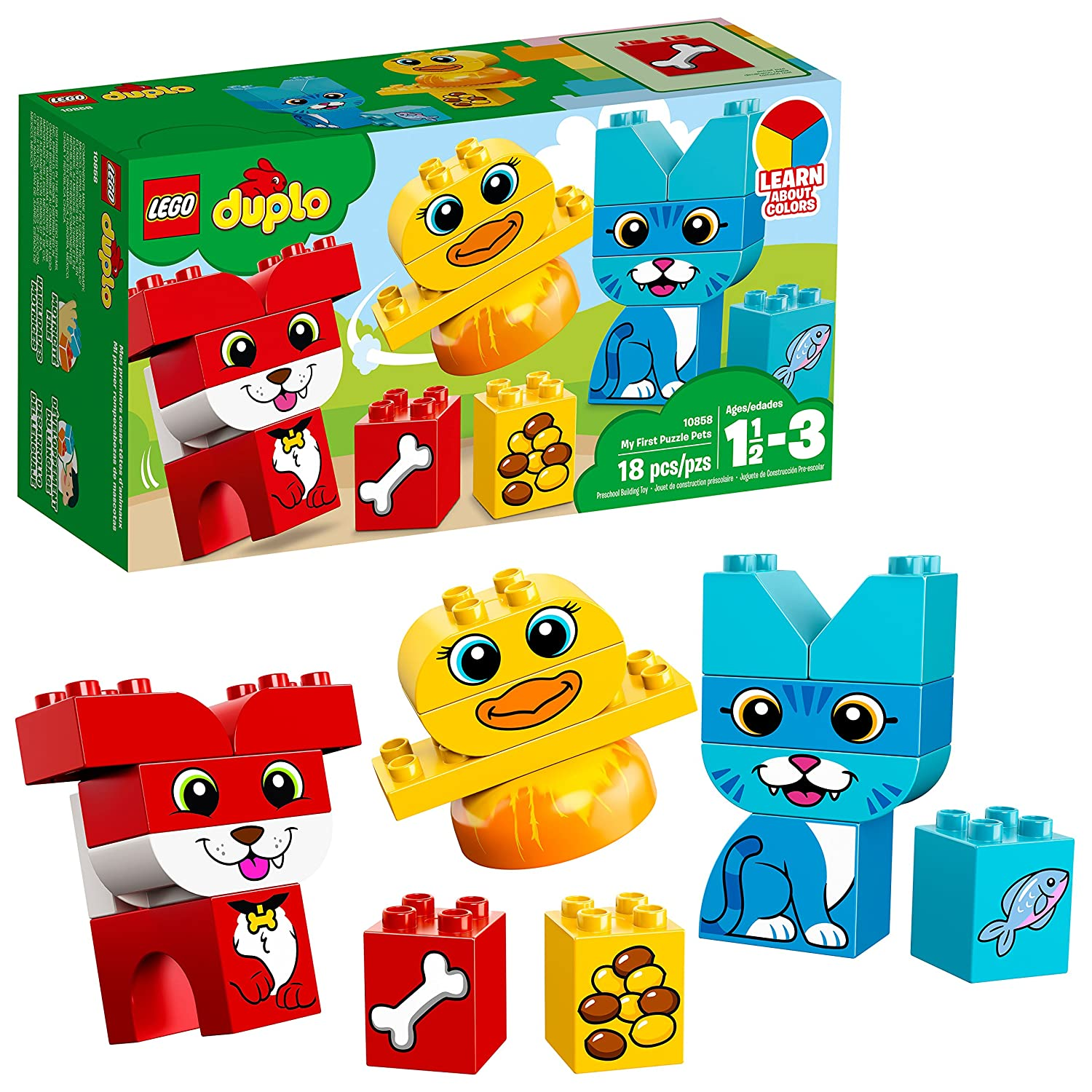 LEGO DUPLO My First Puzzle Pets 10858 Building Blocks (18 Piece) 6212842
