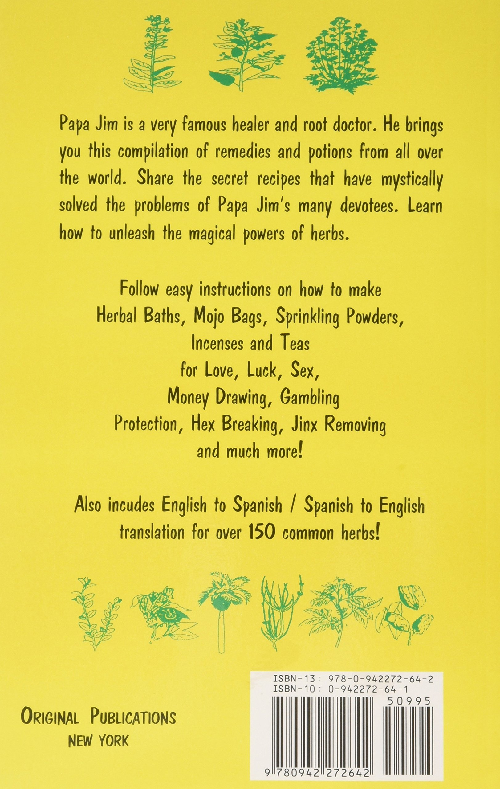Papa Jim's Herbal Magic Workbook: Original Publications