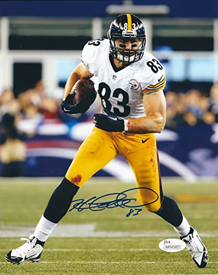 26249b85d07 Autographed Heath Miller Pittsburgh Steelers 8x10 Photo JSA at ...