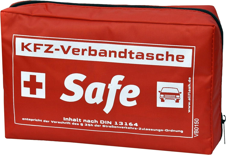 Allflash Al 0197 Kfz Verbandtasche Safe Rot Auto