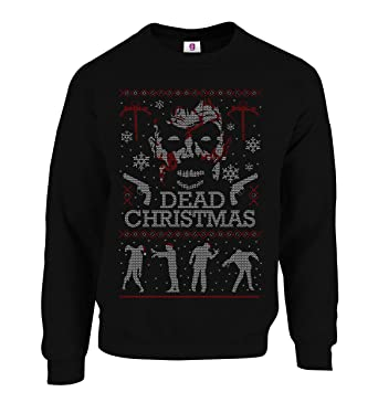 Walking Dead Christmas Sweater.Graphic Impact Inspired Merry Christmas The Walking Dead Zombie Face Ugly Funny Christmas Sweatshirt Jumper