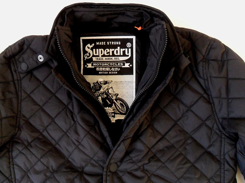 77e61d7db074cc Superdry Men s Apex Quilt Short Jacket Black (Small)  Amazon.co.uk  Clothing