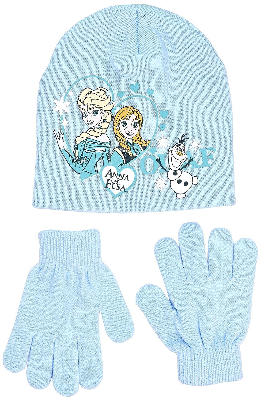 Disney Frozen - Conjunto 2 Pcs Gorro + Guantes infantil color azul claro  talla 52 HO4501 85fdc5d87fc