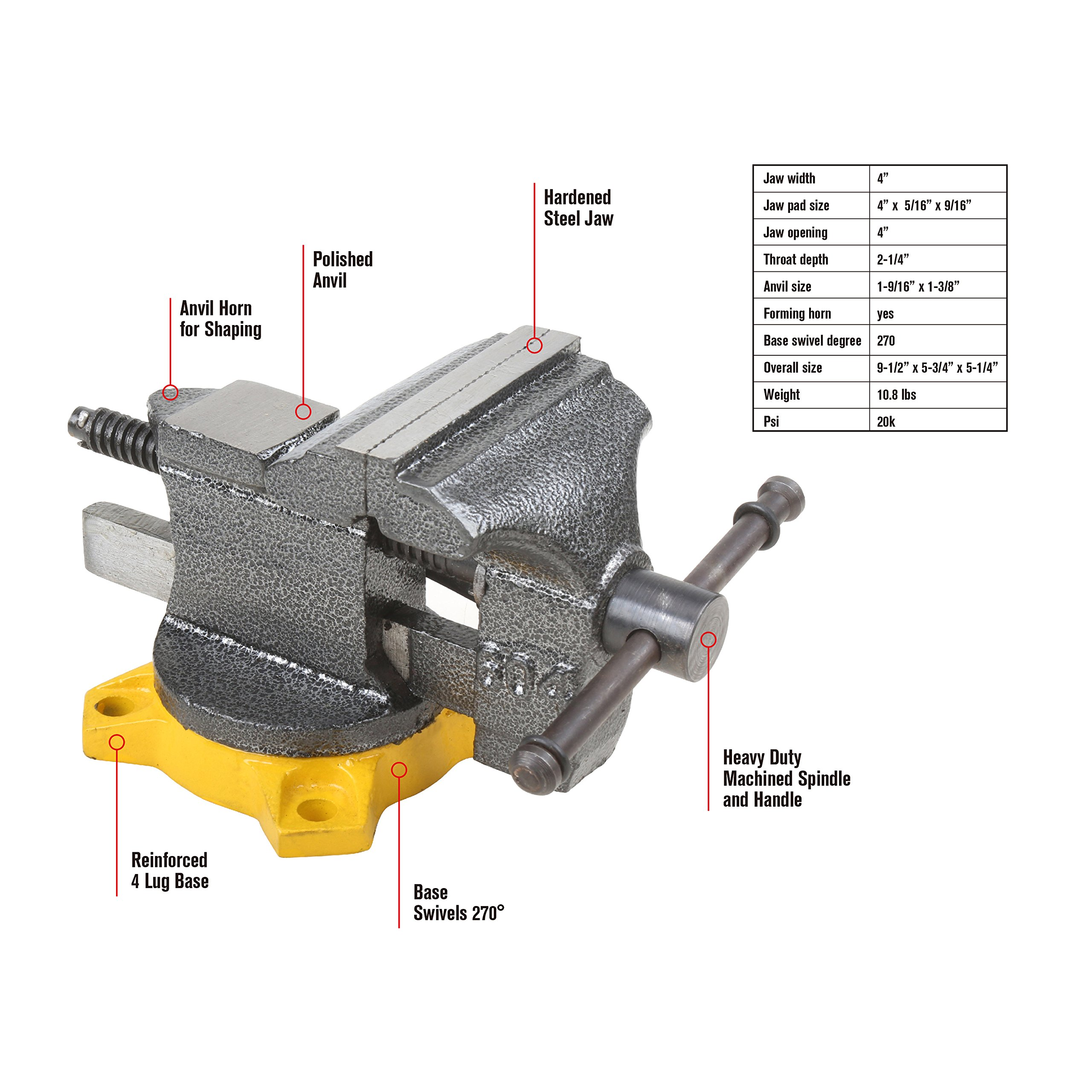 Olympia Tool 38-604 4-Inch Bench Vise