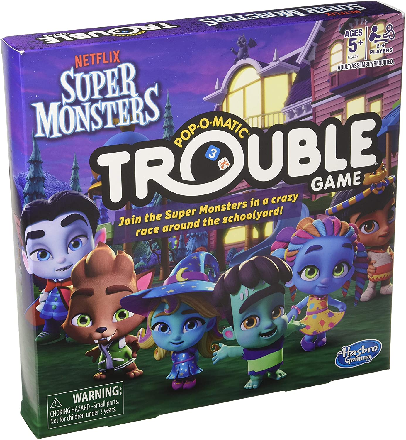 Amazon Com Hasbro Games Trouble Netflix Super Monsters Edition Board Game For Kids Ages 5 Toys Games