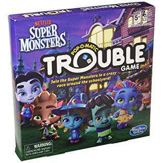 Hasbro Games Trouble: Netflix Super Monsters Edition Board Game for Kids Ages 5+