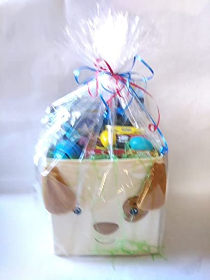 Amazon happy easter baskets kids toddlers unique themed pre happy easter baskets kids toddlers unique themed pre filled gift children pre made eggs negle Gallery