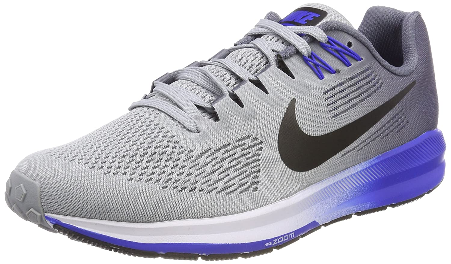 faf99ababd5f Nike Men s Air Zoom Structure 21 Running Shoe Wolf Grey Black-Light  Carbon-Hyper Royal 11.0  Buy Online at Low Prices in India - Amazon.in