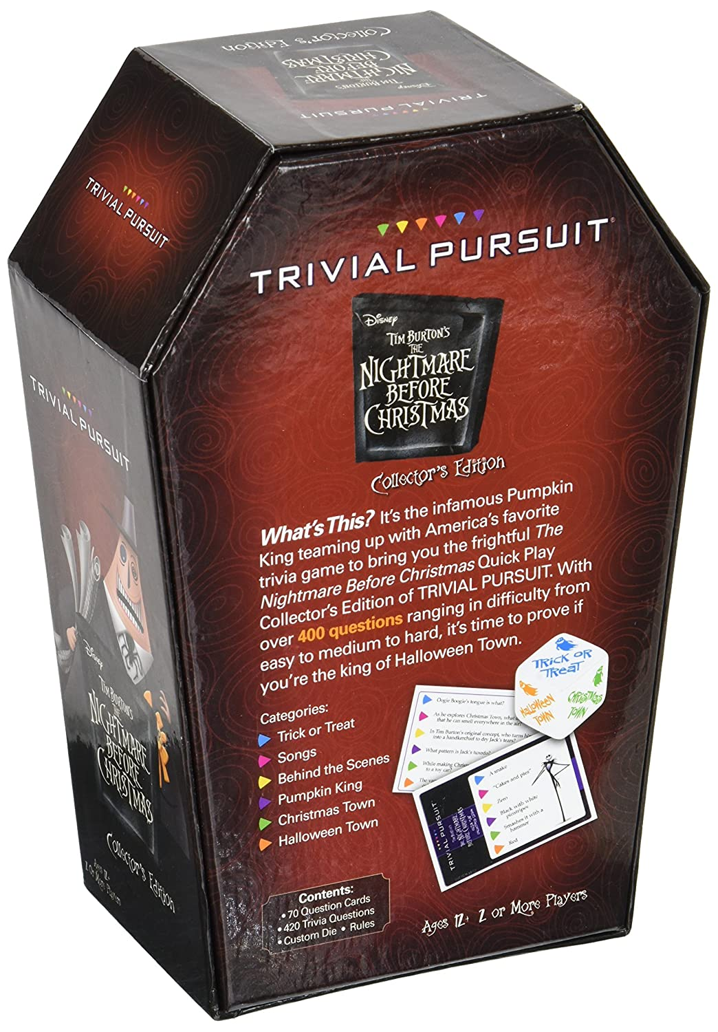 Nightmare Before Christmas Quick Play Trivial Pursuit Usaopoly