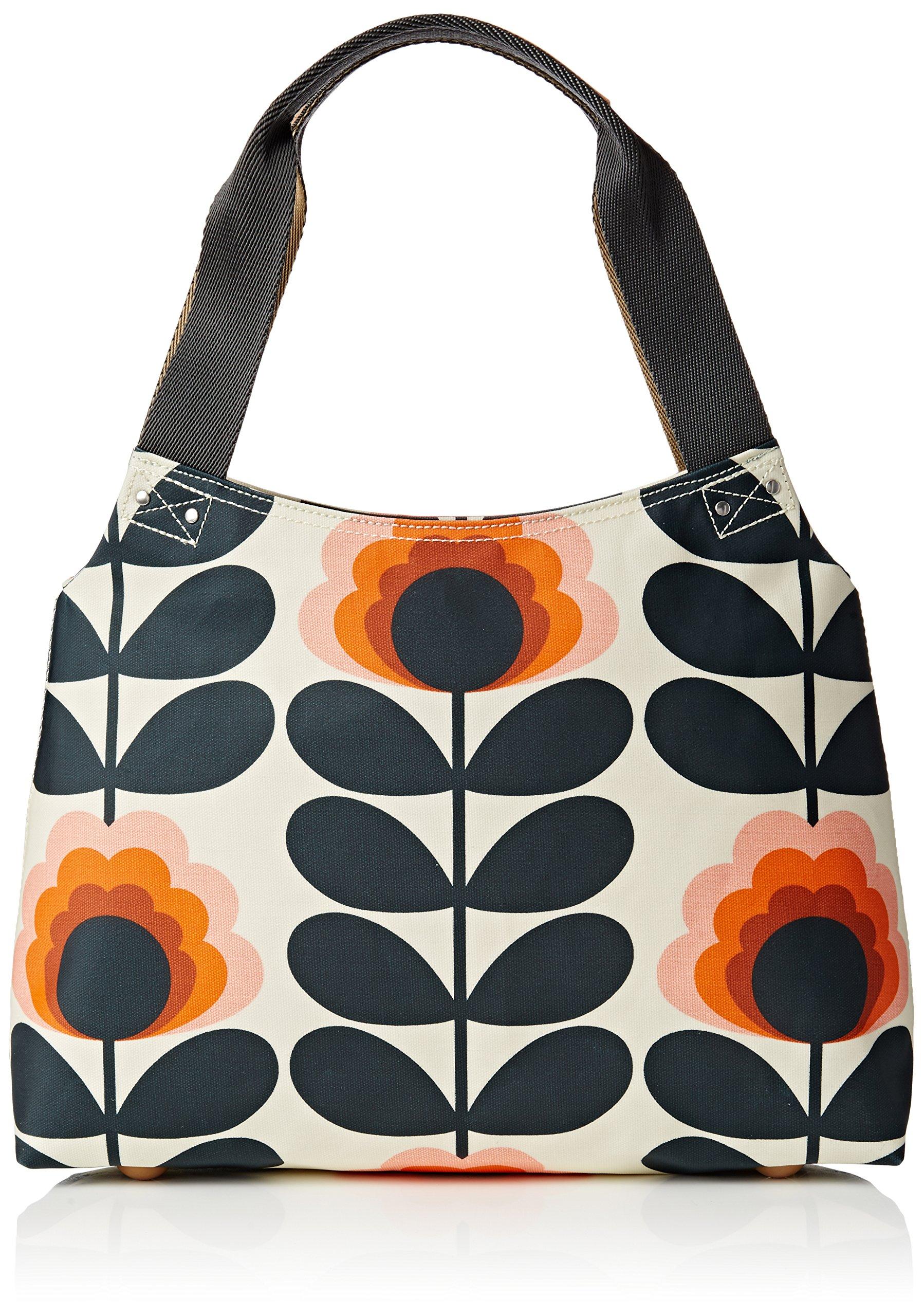 Orla Kiely Summer Flower Stem Classic Zip Shoulder, Sunset