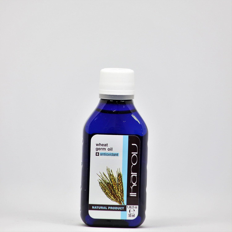 Aceite para gérmenes de trigo natural + antioxidante natural y vitamina E, 55 ml Ikarov: Amazon.es: Belleza
