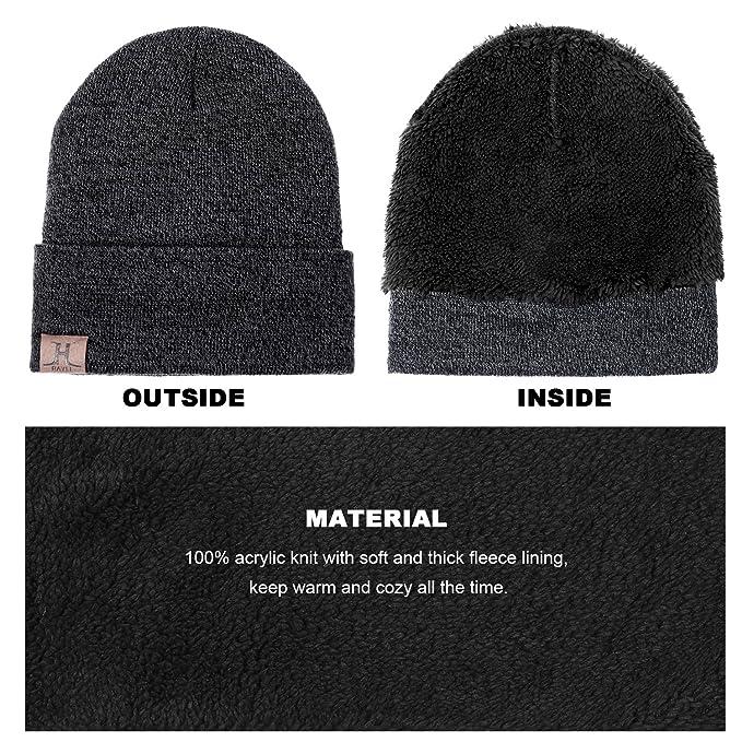 TAGVO Tricotés Ensemble d hiver Bonnet écharpe gants d écran tactile 3 en 1,  doublure molleton doux Bonnet tricoté chaud cache-cou extensible gants  tactiles ... 7aa7de598a5