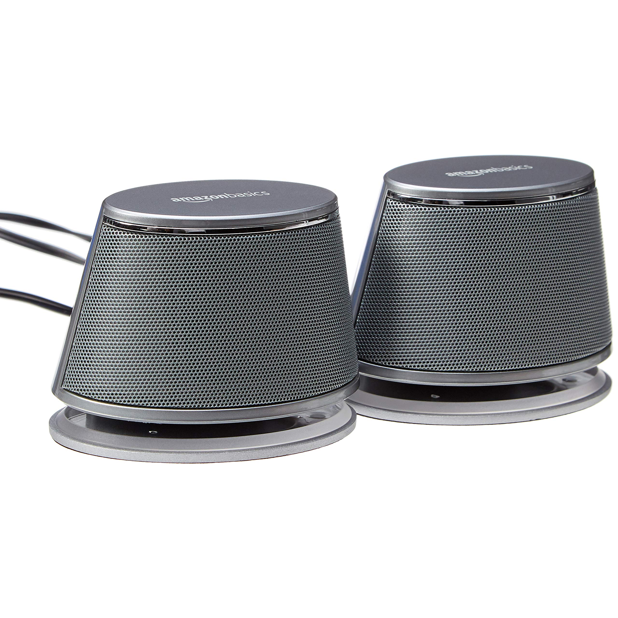 AmazonBasics USB-Powered PC Computer Speakers with Dynamic Sound | Silver by AmazonBasics