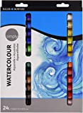 Daler Rowney- Daler Simply Watercolour Aquarelle Set 24 x 12ml Tubes
