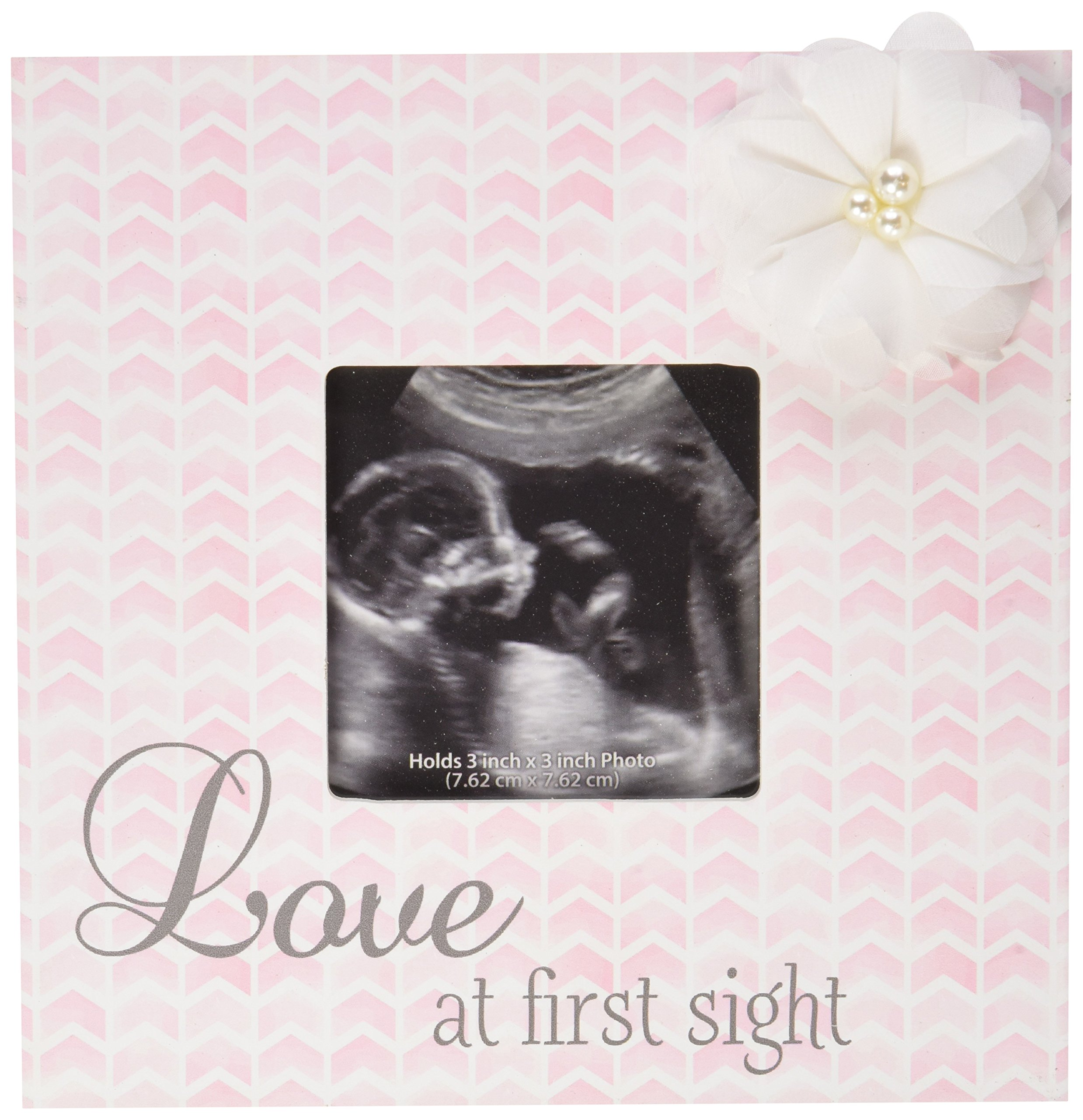 C.R. Gibson 'Love at First Sight' Pink Baby Girl Sonogram Picture Frame, 7'' x 7'' by C.R. Gibson