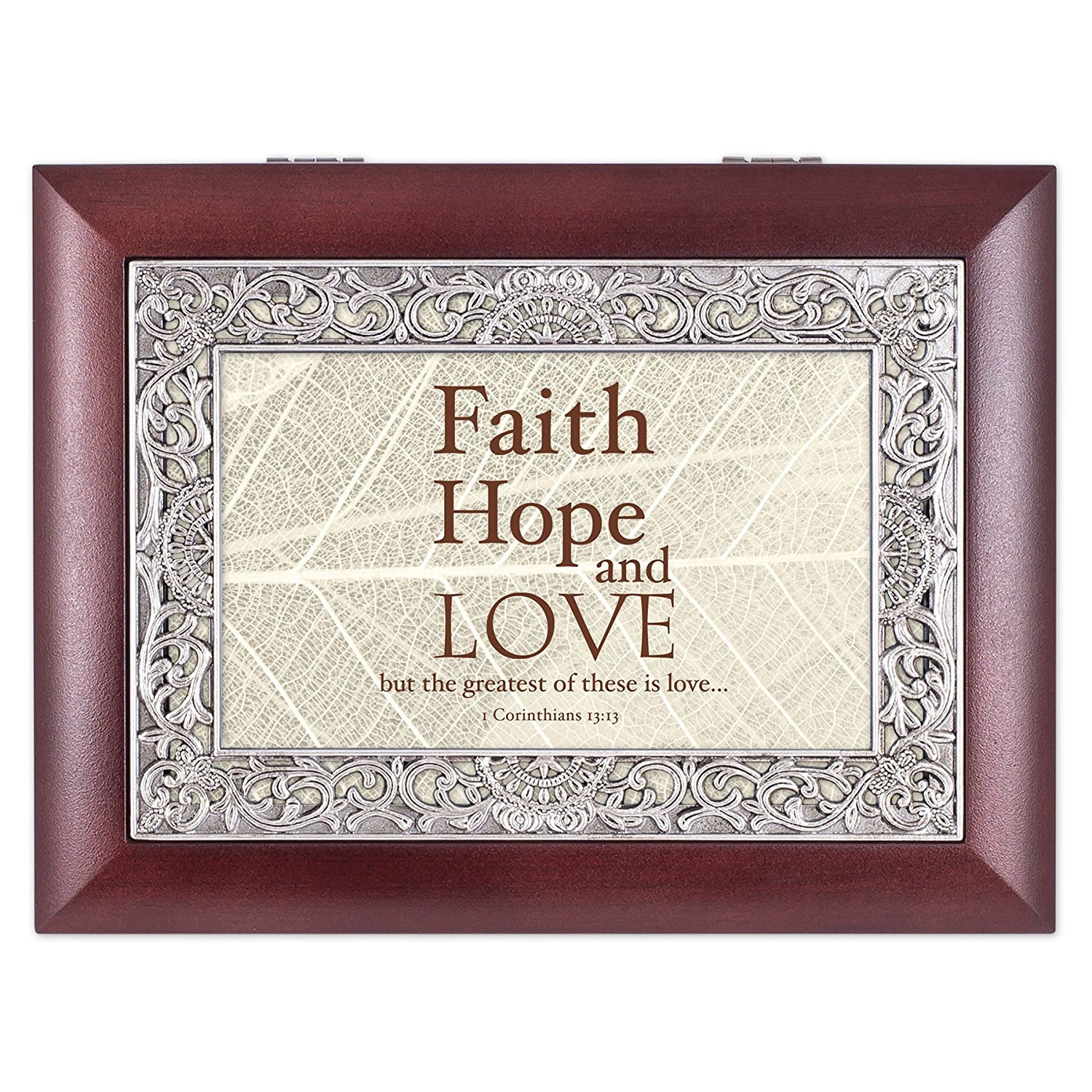 【絶品】 Faith Love Hope Love Leaves 1 B01GGKLGKU Corinthians 13 : 13 Leaves Ornateローズウッドジュエリー音楽ボックスPlays Wonderful World B01GGKLGKU, ブレゲカメラ:ab906fdc --- arcego.dominiotemporario.com