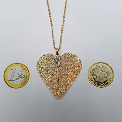 3177d2be21ee Kiara joyas chapado en oro grandes con forma de corazón colgante de  esqueleto (sobre a juego 24