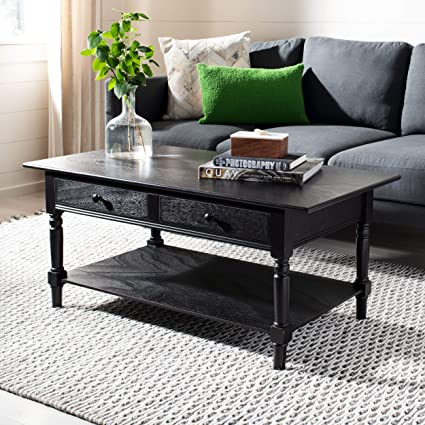Genial Amazon.com: Safavieh American Homes Collection Boris Distressed Black Coffee  Table: Home U0026 Kitchen