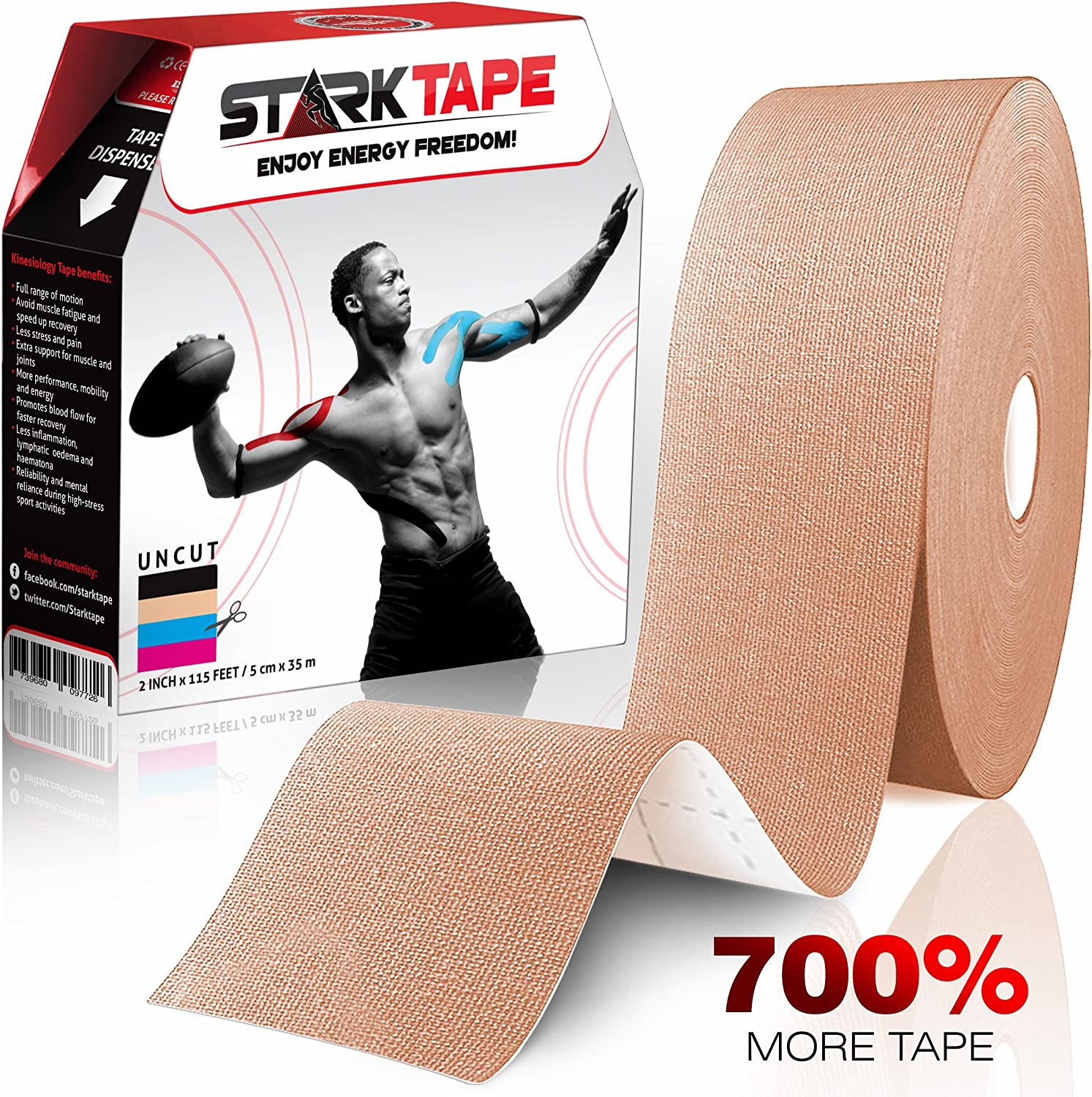 tout neuf style attrayant meilleur pas cher Kinesiology Tape Bulk - Designed to Help Boost Athletic Performance, Reduce  Muscle Pain and Ease Inflammation. Easy to Apply, 97% Natural Cotton /3% ...